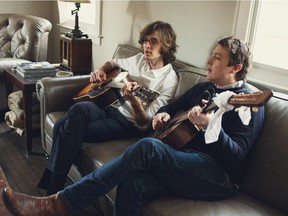 From left, Milk Carton Kids Joey Ryan and Kenneth Pattengale play the Winspear Centre on Oct. 9.