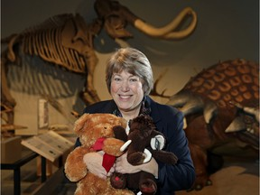 Peggi Ferguson-Pell, president of Friends of Royal Alberta Museum, is asking guests to bring teddy bears to the farewell festivities for Santas Anonymous.
