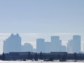 Air pollution in Edmonton in this file photo.