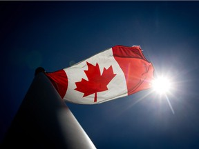 The Canadian government encourages everyone — condo owners included — to fly the flag proudly.
