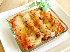 Roasted Squash with Spinach Cannelloni