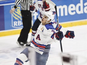Auston Matthews of Team USA, projected this week to go No. 1 in the NHL draft, celebrates a goal at the world junior hockey championships in Helsinki on Jan. 2, 2016.