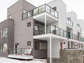 Five Lofts by Urban Edge Homes is a laneway infill project in Oliver, located steps away from the Brewery District.