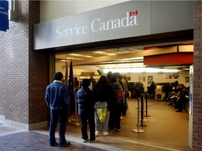 The Service Canada office in Edmonton.