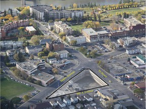 Three developers have offered competing bids to buy this $4.375-million lot off Jasper Avenue.