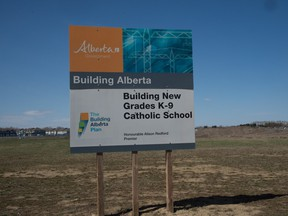 In April 2012, during a provincial election campaign, then-premier Alison Redford promised to build 50 new schools and renovate 70 others by 2016 to meet demand in Alberta's growing urban centres.