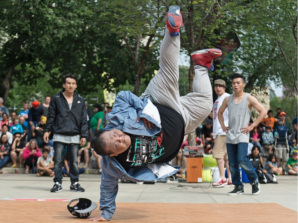UPLOADED BY: Liane Faulder ::: EMAIL: lfaulder:: PHONE: 780-429-5294 ::: CREDIT: supplied ::: CAPTION: Rhythm Speaks appears at the Edmonton Street Performers Festival in 2016.