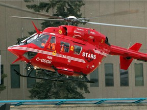 STARS air ambulance transported a woman to hospital in Edmonton Thursday who was in critical condition after an ATV crash near Whitecourt.