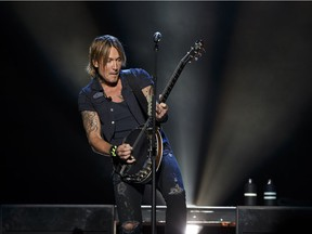 Keith Urban performs at Rogers Place in Edmonton on Friday, Sept. 16, 2016. He and his band delivered a stellar set of tight and polished songs, says our reviewer.