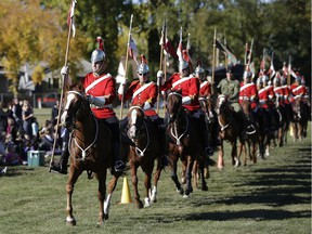 A performance of the Strathcona Mounted Troop Musical Ride was held at Virginia Park School in Edmonton on Monday September 26, 2016.