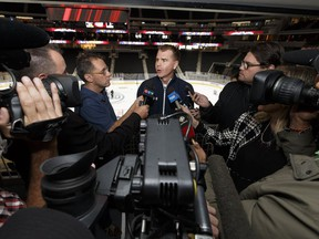 Edmonton Oil Kings General Manager Randy Hansch speaks about selling out Rogers Place during a news conference at the arena in Edmonton, Alberta on Thursday, September 15, 2016. The team plays the Red Deer Rebels at Edmonton's new downtown arena on Sept. 24. Ian Kucerak / Postmedia