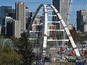 The City of Edmonton announced Thursday, June 8, 2017 that the Walterdale Bridge, will open to traffic in September.