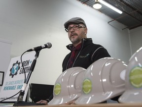 Randall Benson is owner of Gridworks Energy Group, part of an oilsands worker-led group that called Tuesday for training and opportunities to work on renewable energy projects to assist the Alberta economy.