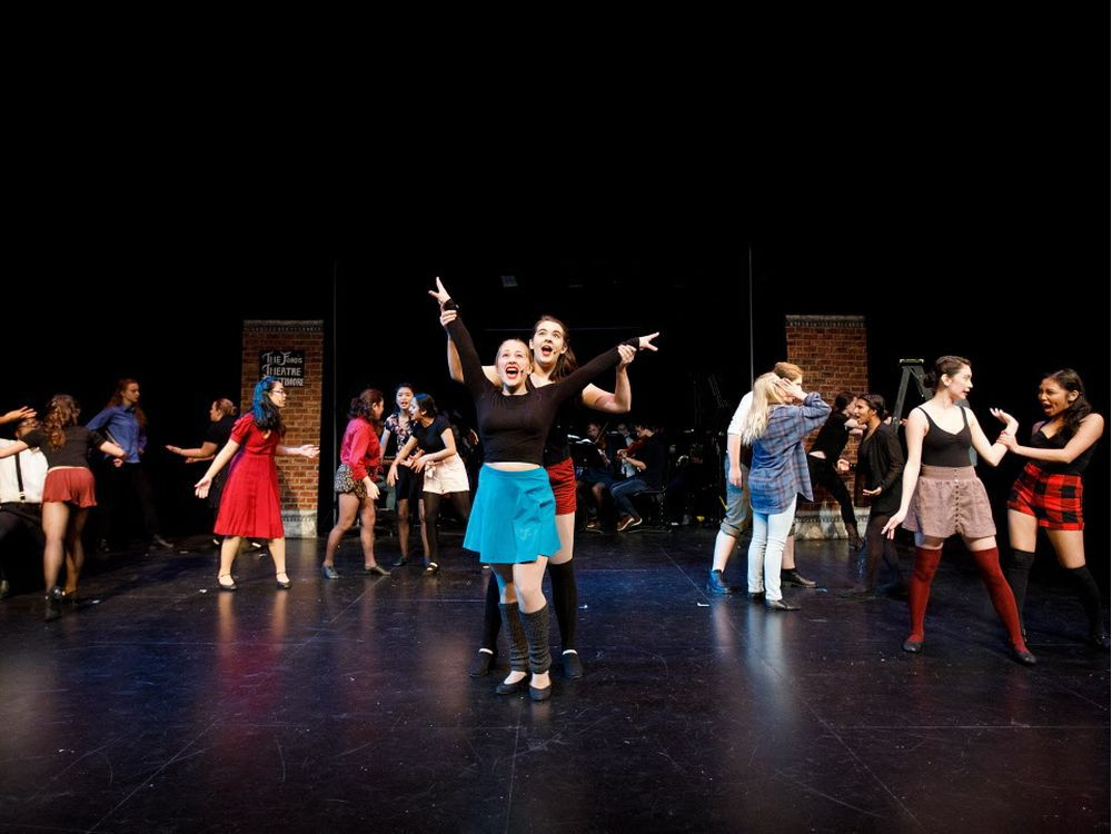 A scene in Archbishop MacDonald High School's production of Kiss Me Kate.