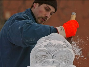 Chef Steve Buzak has carved at the Ice On Whyte festival, as well as at international events.