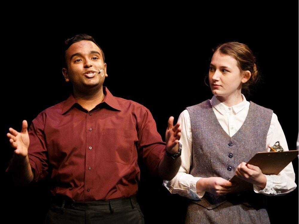 Navneet Chand (as Fred Graham), left, and Cassandra Pryer (as Ralph) in Kiss Me Kate.