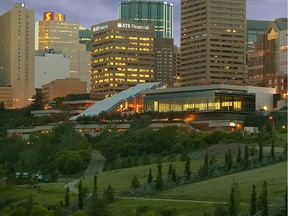 A picture of the Edmonton Conference Centre.