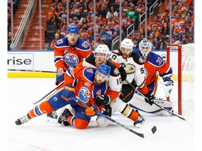 Fronting shots and clearing rebounds are among Kris Russell's primary strengths.