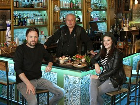 Michael Maxxis, Bill Graham and Melanie Swerdan (left to right), are co-owners of El Cortez Mexican Kitchen & Tequila Bar, and are opening a new spot, Holy Roller, in Old Strathcona.