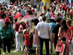 Thousands of people enjoyed the Canada Day celebrations at the Alberta LegislatUre on July 1, 2017. (PHOTO BY LARRY WONG/POSTMEDIA) For a Dustin Cook story running July 2, 2017. Larry Wong, POSTMEDIA NETWORK