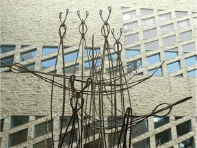 Migrants, a statue representing Canada geese, in the west courtyard at City Hall.