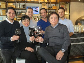 Sorrentino's restaurant chain is owned by Carmelo and Stella Rago, seen with their four sons, from left, Carmelo Jr., Pasquale, Maurizio, and Antonio.