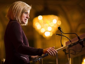Alberta Premier Rachel Notley, speaking at business luncheon in Toronto on Monday, Nov. 20, 2017, reacted positively to the news that Nebraska has approved the Keystone XL pipeline.