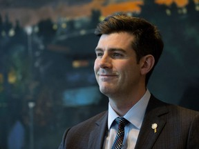 Mayor Don Iveson takes part in a year-end interview at City Hall on Dec. 13, 2017.