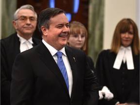 United Conservative Party Leader Jason Kenney was sworn in as an MLA Monday afternoon at the Alberta legislature.