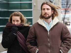 David Stephan and his wife Collet Stephan outside the Calgary courthouse on March 9, 2017.