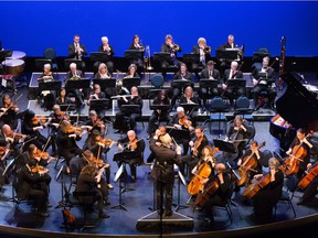 The community orchestra Orchestra Borealis, who gave a concert featuring Rachmaninov's second symphony at the South Pointe Community Centre on Sunday, April 22