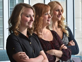 Christina Russell (centre) and her daughters Maggie (left) and Harley all attended NAIT at the same time.