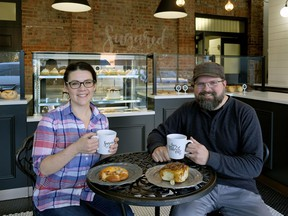 Sugared and Spiced, owned by Amy Nachtigall (left) and Jeff Nachtigall, is on Edmonton Food Tours' latest walking tour of Old Strathcona.