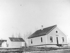 Historical photo of the first Alberta Treasury branch in Rocky Mountain House, Alberta. Treasury Branches were scheduled to open six branches across the province on September 30, 1938. The people of Rocky Mountain House, with their roped-off space in the Forest Service office, were ready for business a day early and became the official birthplace of ATB Financial on September 29, 1938. Photo: Courtesy, ATB Financial -- Handout Photo DATE PUBLISHED: OCTOBER 4, 2003, PAGE D4 * Calgary Herald Merlin Archive *