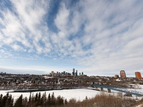 The Edmonton skyline is seen from Forest Heights Park on Jan. 25, 2019.