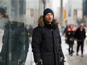 Oliver resident and urban planning graduate Dustin Martin on Jasper Avenue in Edmonton, on Tuesday, Feb. 5, 2019. He believes upcoming changes to Jasper in the first phase of construction from 109 Street to 114 Street will be a big improvement for the neighbourhood.