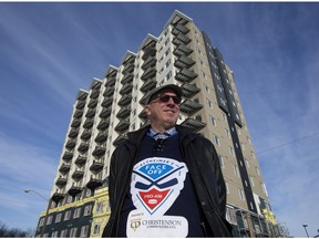 Developer Greg Christenson outside the Village at Westmount at 114 Avenue and 134 Street adjacent to Groat Road north of Westmount Shopping Centre in Edmonton on Tuesday, Feb. 5, 2019.