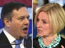 UCP Leader Jason Kenney and NDP Leader Rachel Notley in a Postmedia file photo.