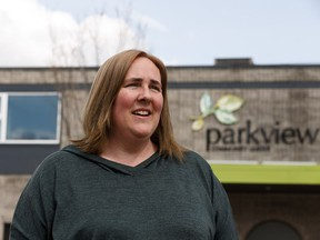 Tracey Kushniruk, lived in the live-in caretaker suite in the Parkview Community League hall for eight years before being forced to move in Edmonton, on Monday, May 6, 2019.