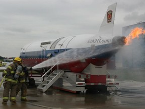 Airport and regional emergency teams will stage a full-scale emergency response exercise at Villeneuve Airport Friday. (Supplied photo)