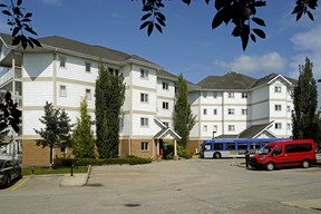 This residential condominium apartment building located at 9930 100 Ave. in Fort Saskatchewan was evacuated on Friday, Aug. 2, 2019, due to structural safety concerns.