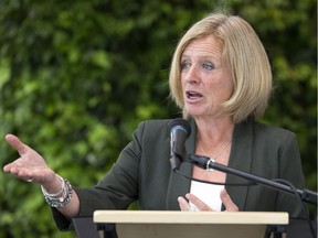 Opposition leader Rachel Notley calls on Premier Jason Kenney to release the blue ribbon panel report to the public on Tuesday, Aug. 13, 2019.