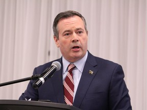 Premier Jason Kenney speaks at the Oil Sands Trade Show at MacDonald Island Park's Shell Place Ballroom on Tuesday, September 10, 2019. Vincent McDermott/Fort McMurray Today/Postmedia Network
