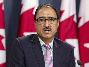 Amarjeet Sohi is pictured at an Oct. 3, 2018, news conference in Ottawa.