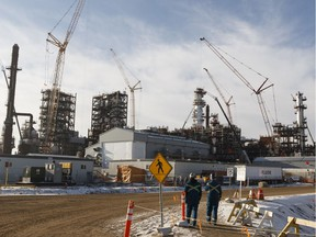 The North West Redwater Partnership's Sturgeon Refinery is seen west of Fort Saskatchewan, Alberta on Thursday, Nov. 24, 2016.