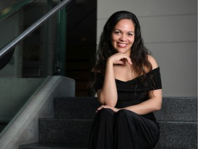 Cosette Justo Valdés, the Edmonton Symphony Orchestra's assistant conductor, who led a performance of Prokofiev's much loved Peter and the Wolf to a Winspear packed with children and adults on Saturday, Nov 23.(Supplied photo/ESO)