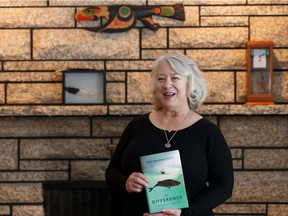 Author Marina Endicott in her home as her new novel, The Difference, is released.