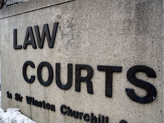 Stock photo of Edmonton Law Courts sign. (PHOTO BY LARRY WONG/POSTMEDIA) ORG XMIT: POS1902282255382587
