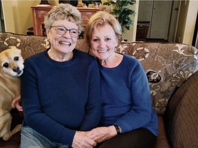 Lynne Alsberg, left, and her half-sister Ans Huizink did not know about each other for decades until a relative did a DNA search. The two met last year and are part of a Netherlands-based documentary.