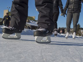 Skaters take to the Rundle Park Ice Way at the launch of Live Active, Edmonton's commitment to inspire, promote and prioritize ways Edmontonians can be active year-round.